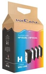Inktcartridge WECARE C2P42AE 932XL zwart + 3 kleuren HC (HP).