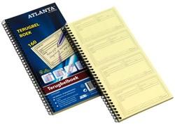 Terugbelboek Atlanta A5419-090 74x125mm 120x2 stuks zelfklevend.