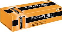 Batterij Industrial 9Volt alkaline doos à 10 stuks.