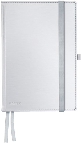Notitieboek Leitz Style A5 harde kaft poolwit - 80 vel 100 grams gelijnd ivoorpapier 4485-00-04.