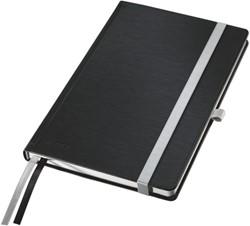 Notitieboek Leitz style A6 harde kaft satijnzwart - 80 vel 100 grams gelijnd ivoorpapier 4489-00-94.