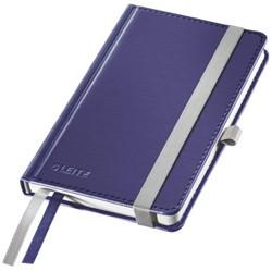 Notitieboek Leitz Style A6 harde kaft titaniumblauw - 80 vel 100 grams gelijnd ivoorpapier 4489-00-69.