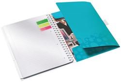 Notitieboek Leitz WOW Be Mobile A4 kunststof kaft ijsblauw - 80 vel 80 grams gelijnd papier 4644-00-51.
