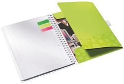Notitieboek Leitz WOW Be Mobile A4 kunststof kaft groen - 80 vel 80 grams gelijnd papier 4644-00-64.