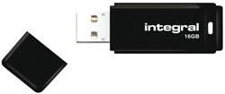 USB-stick Integral 2.0 16Gb zwart.