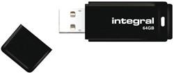 USB-stick Integral 2.0 64Gb zwart.