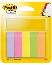 Indextabs 3M Post-it 670/5 papier ultra 5 kleuren.