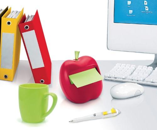 Memoblokdispenser 3M Post-it Z-Notes 76x76mm appel rood.