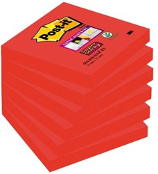 Memoblok 3M Post-it 654-SSSF Super Sticky 76x76mm Saffraan. Afname per 6 blokjes.