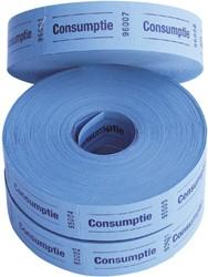 Consumptiebon Combicraft 57x30mm 2-zijdig 2x1000 stuks blauw.