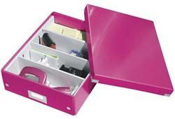 Opbergbox Leitz Click en Store 280x100x370mm roze.