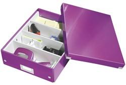 Opbergbox Leitz Click en Store 280x100x370mm paars.