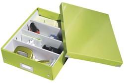 Opbergbox Leitz Click en Store 280x100x370mm groen.