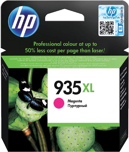 Inktcartridge HP C2P25AE 935XL magenta HC.