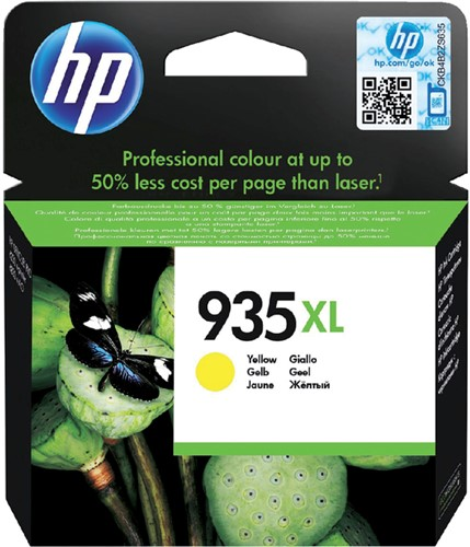 Inktcartridge HP C2P26AE 935XL geel HC.