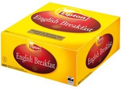 Thee Lipton Breakfast label zonder envelop 100 stuks.