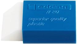 Gum Edding R20 kunststof 45x24x10mm wit met blauwe houder.