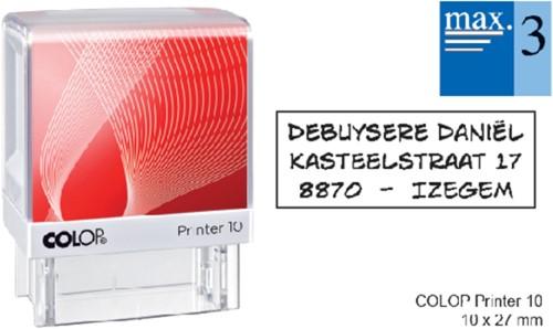 Tekststempel Colop Printer 10 + bon 3-regels 27x10mm.