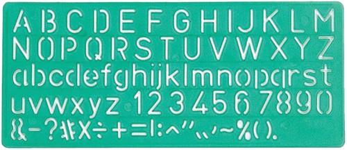 Lettersjabloon Linex 10mm hoofdletters/letters/cijfers.