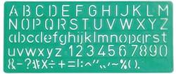 Sjabloon Linex letters 10mm.