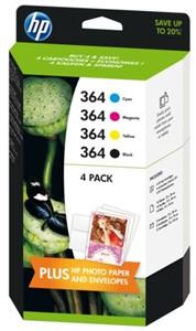 Inkcartridge HP J3M82AE 364 combipack zwart+kleur