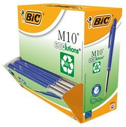 Balpen Bic M10 Ecolutions blauw medium. Afname per 100 stuks.