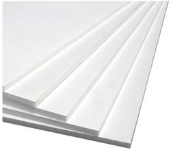 Foamboard Office 70x100cm dikte 5mm 2-zijdig wit. Afname per 10 stuks.