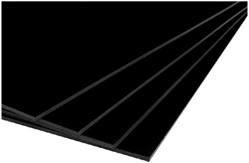 Foamboard Office A4 dikte 5mm 2-zijdig zwart. Afname per 10 stuks.