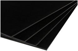 Foamboard Office 70x100cm dikte 5mm 2-zijdig zwart. Afname per 10 stuks.
