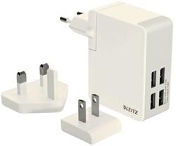 Oplader Leitz Complete Traveler USB 4-plugs wit 6219-00-01.