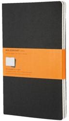 Schrift Moleskine Cahier 21 x 13cm flexibele kaft bruin - 40 vel ivoorkleurig blanco zuurvrij papier - verpakt per 3 stuks. ISBN-978-88-8370-495-6.