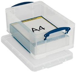 Opbergbox Really Useful 9 liter 395x255x155mm (bxhxd).