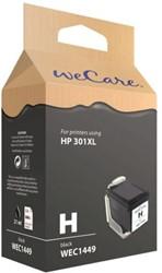Inktcartridge WECARE CH563EE 301XL zwart HC (HP).