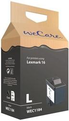 Inktcartridge WECARE 10N0016 16 zwart (Lexmark).