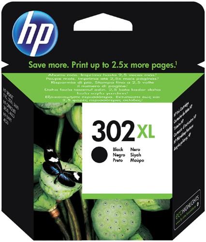 Inktcartridge HP F6U68AE 302XL zwart.