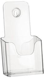 Folderhouder Nedco 37750 1x1/3 A4 staand/hangend transparant.