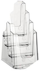 Folderbakje Nedco 37701 1/3 A4 4-vaks staand/hangend capaciteit 36mm transparant.
