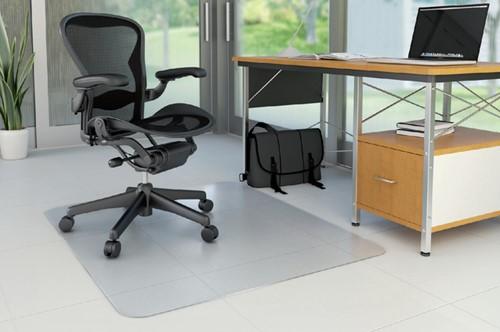 Stoelmat Rillstab polycarbonaat 90x120cm voor harde vloer.