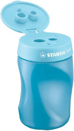 Puntenslijper Stabilo Easy 4501/2 linkshandig blauw.