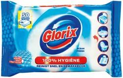 Toiletreiniger Glorix 30 hygiene doekjes.