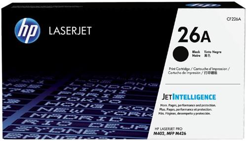 Toner HP CF226A 26A zwart.