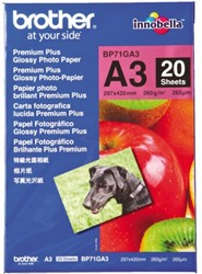 Fotopapier Brother BP-71 A3 glossy 26 0grams 20 vel.