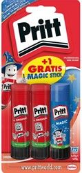 Lijmstift Pritt 2x 22 gram + 1x Magic op blister.