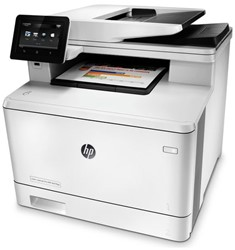 All-in-one kleurenlaserprinter HP Laserjet Pro M477FDW.