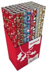 Kerstpapier Hoomark 200x70cm assorti kleuren.