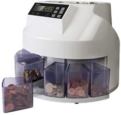 Geldtelmachine Safescan 1250 wit voor munten.