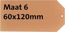 Label karton nr6 200gr 60x120mm chamois 1000 stuks.