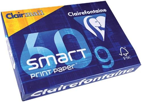 Printpapier Clairefontaine Clairmail A4 60 grams wit 500 vel.
