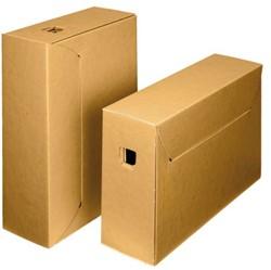 Archiefdoos Loeff 3008 City box 10+ ICN4 bruin binnenzijde wit kraft 390x260x115mm. Afname per 50 stuks.