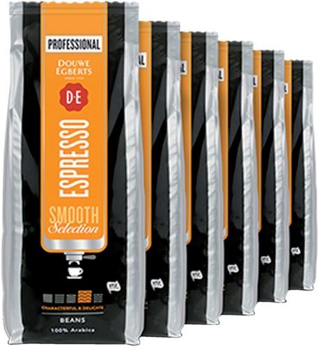 Koffie Douwe Egberts Espresso bonen medium smooth 1000 gram.